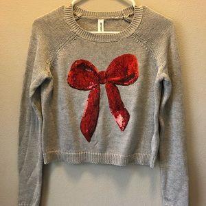 Bethany Mota gray sweater